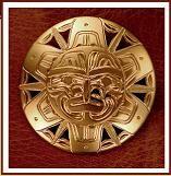 14kt Sun pendant by Northwest Coast Native American artist Harold Alfred
