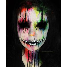 30 Mind-Blowing Halloween Makeup Ideas To Scare ❤ liked on Polyvore featuring beauty products and makeup