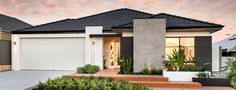 Family Home Designs Perth - Commodore Homes House Wall Design, Bungalow House Design, Modern House Design, Exterior House Colors, Exterior Design, Bungalow Renovation, Facade House, House Exteriors, Contemporary House Plans