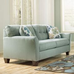 Adorable soft blue sofa