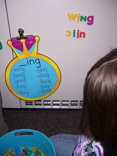 Great word family activity! Good idea to put these charts by a magnetic surface for center time.