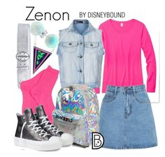 """Zenon"" by leslieakay ❤ liked on Polyvore featuring Prada, Ally Fashion, Converse, Bling Jewelry, disney and disneybound"