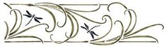 """Mission Dragonfly Stencil $20. 2 Overlays. 5 1/2"""" Tall x 19 3/4"""""""