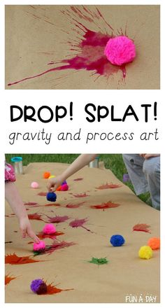 Playful Preschool Art with Watercolors Hands-on fun way for kids to explore gravity. Great mix of science and art for young kids.Hands-on fun way for kids to explore gravity. Great mix of science and art for young kids. Messy Art, Messy Play, Toddler Art, Easy Toddler Crafts, Reggio Emilia, Preschool Crafts, Process Art Preschool, Science Crafts For Kids, Preschool Summer Camp