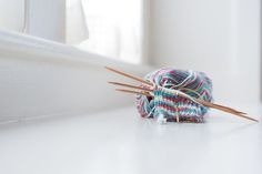 Double-pointed needles are the tool of choice when knitting small circular objec. : Double-pointed needles are the tool of choice when knitting small circular objects like socks. Get essential tips that will help you use the needles. Knitting Stiches, Free Knitting, Knitting Socks, Knitted Hats, Knitting Patterns, Knitting Ideas, Knitting Tutorials, Knit Stitches, Bamboo Knitting Needles