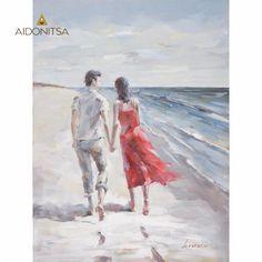 Ελαιογραφία 3D 90x120. Από την Alphab2b.gr Couple Beach, Couples, Painting, Decor, Art, Art Background, Decoration, Painting Art, Kunst