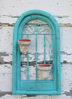 Wall Planter - Garden - Shabby and chic - Paris Chic- Cottage Home Decor, via Etsy.