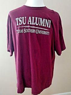 TSU Alumni Texas Southern University T-Shirt Adult 2XL Maroon Cotton Gildan