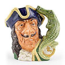 Toby mugs are a tradition with Royal Doulton that dates back to 1933 when they were introduced by Charles Noke. The Royal Doulton character jugs range features popular personalities, as well as characters from history and fiction that has included more than 300 different subjects. - See more at: http://blog.valuethisnow.com/posts/captain-hook-toby#sthash.0ZDR0PVx.dpuf