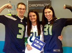Lots of #Seahawks pride at the Clear offices today! #SuperBowl #GoHawks #NFCChampions #RePete