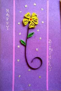 Simple quilling Birthday Card