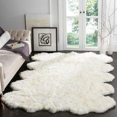 Safavieh Hand-woven Sheep Skin White Sheep Skin Rug (8' x 10')