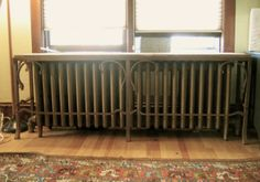 Radiator Cover, Forged steel with Rust Patina.