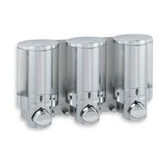 Aviva 3-Bottle Chrome Shower Dispenser - BedBathandBeyond.ca