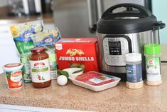 No Need to Boil Pasta with This Easy Instant Pot Stuffed Shells with Meat Sauce Recipe! Stuffed Shells With Meat, Cheese Stuffed Shells, Lasagna Ingredients, Meat Sauce Recipes, Frozen Spinach, Red Sauce, Tray Bakes, Pesto, Diaries