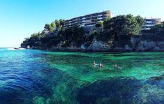 Arrancando el verano...por fin! Mar sol y buena compañía. This is Mallorca.  #Mallorca #sea #mar #verde #igersmallorca #IgersBalears # #water #summervibes  #bluesea #sealovers