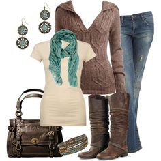 I like everything, as long as the jeans are regular cut and the earrings are smaller.