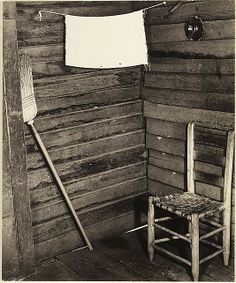 Kitchen Corner, Tenant Farmhouse, Hale County, Alabama by Walker Evens (American)  1936  Gelatin silver print, photograph