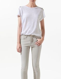 LINEN JEWEL ROCKS T-SHIRT - T-shirts - Woman - New collection - ZARA United States