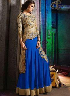 Chocolate salwar suits online – indian silk designer salwar kameez online shopping