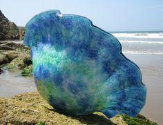 """""""Aqua Reef"""" shell bowl."""