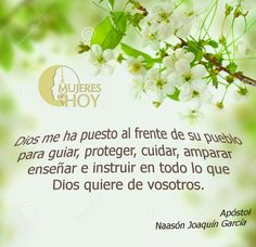 Dios me ha puesto... #NJG #Apóstol #Lldm