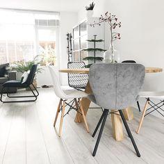 #kwantuminhuis Stoel LUCCA en draadstoel NOLA > https://www.kwantum.nl/meubelen/stoelen @huisjevanjoliene