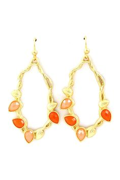 Eva Teardrop Earrings in Warm Sunrise