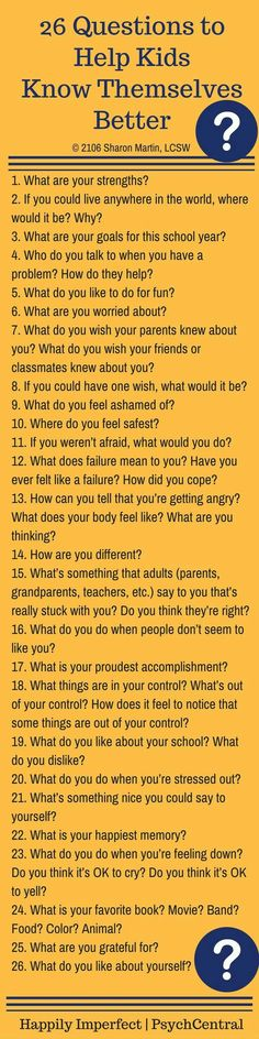 26 Questions to Help Kids Know Themselves Better. Positive parenting and helping our children figure out who they are is powerful. Lets start creating resilient adults through helping children become stronger. Education Positive, Kids Education, Positive Discipline, Kids Discipline, Parenting Advice, Kids And Parenting, Parenting Classes, Parenting Quotes, Peaceful Parenting