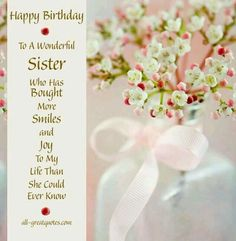 65 ideas birthday wishes for sister religious Birthday Wishes Greeting Cards, Free Happy Birthday Cards, Birthday Wishes Quotes, Happy Birthday Messages, Happy Birthday Images, Happy Birthday Greetings, Birthday Humorous, Birthday Sayings, Happy Birthdays