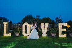 giant love letters wedding photographer dorset