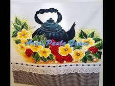 Resultado de imagem para pintando pano de prato com cristina ribeiro