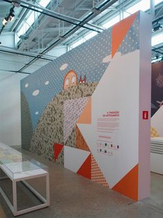 Exhibition design Wall - Linhas de Histórias SESC Belenzinho Brazilian studio Campo created the identity, signage and printed pieces for the exhibition Linhas de Backdrop Design, Booth Design, Wall Design, Stand Design, Banner Design, Design Design, Signage Display, Signage Design, Office Graphics
