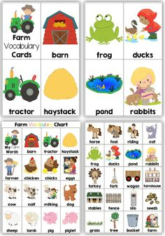 Down on the Farm I can Make a Sentence Play Dough Mats, Vocab. Cards + Record Sheets Your record sheets and play dough mats are open-ended and could also be used with any other lists that you use in your classroom throughout the year. You could also use magnetic letters instead of playdough.
