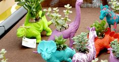 Dinosaur : Planters (lovely party favours) | For JB | Pinterest | Planters, Party favors and Sprays