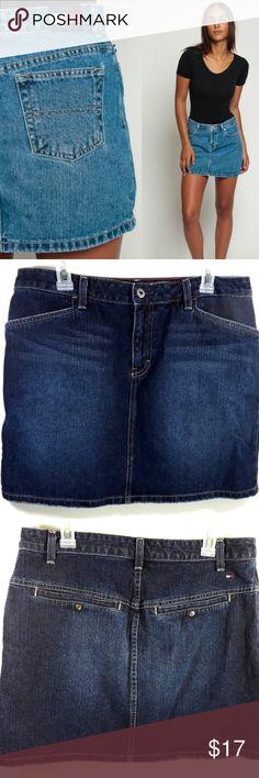 Tommy Hilfiger Jean Blue Blue Jeans Skirt Size 12 Tommy Hilfiger Jean Blue Cotton /Blue Jeans Skirt Sz 12 Tommy Hilfiger Skirts Mini