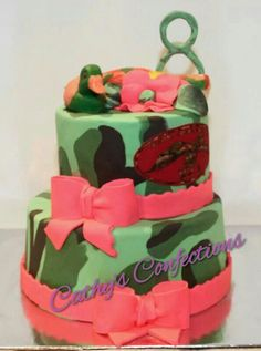 Www.Facebook.com/cathysconfection  Duck commander cake  Girl duck dynasty cake  Girl camo cake