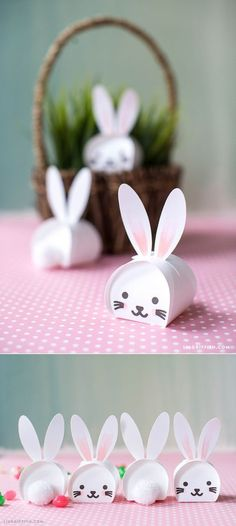 Easter Bunny #treatboxes template at www.LiaGriffith.com: