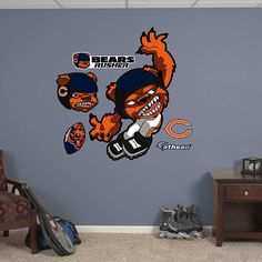 Fathead Chicago Bears Rusher Wall Graphic - Wall Sticker Outlet