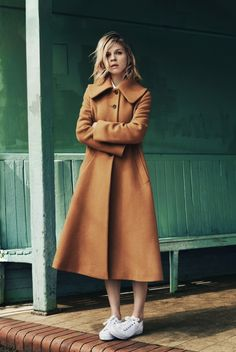 Clémence Poésy for Pablo. I'm dying for the camel coat.