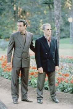 Al Pacino and Andy Garcia in The Godfather: Part III (1990) Best Movie Actors, Movie Characters, Good Movies, Movies And Tv Shows, Andy Garcia, Al Pacino, The Godfather Saga, Godfather Movie, Marlon Brando