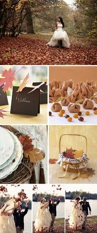 My sister is going to have an autumn wedding.. i can't wait!