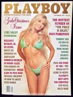 Playboy Magazine Price Is Right Dian Parkinson December 1991 Vintage Ads #Playboy