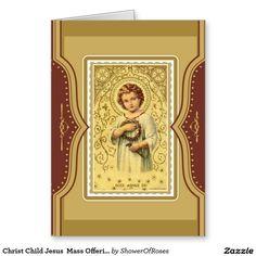 Christ Child Jesus  Mass Offering Memorial Card