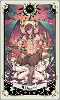 Tarot card 15- the Devil by rann-rann.deviantart.com