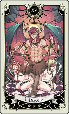 Tarot card 15- the Devil by rann-rann.deviantart.com --> http://All-About-Tarot.com <--