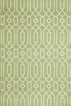 "Rupee Indoor/Outdoor Rug (Green) - 8'6"" x 13' : $622.00. Available online at www.TheLookInteriorsNH.com"