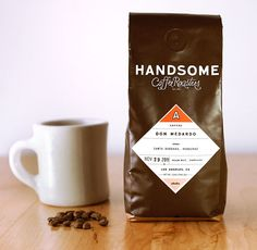 30 Creative Coffee Packages - The Dieline - Handsome Coffee