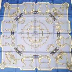 Mors et Gourmettes HERMES Silk Scarf 90 cm