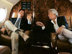 Valentino and Giammetti in the private jet. So Very Valentino | Vanity Fair